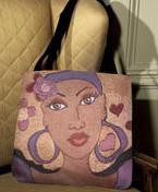 Pretty Eyes Tapestry Tote Bag