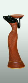 Woman Votive Candleholder in Brown 14in