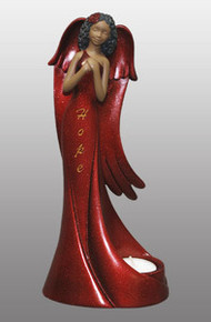 Tea-Light Angel: Hope in Red