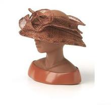 Proud to Be Me - Open Crown Sinamay Figurine - Harriet Rosebud