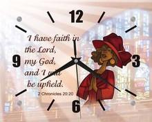 I Have Faith Inspirational Wall Clock