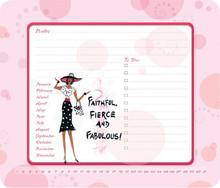 Faithful, Fierce, Fabulous Memo Mouse Pad