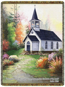 """House Of The Lord 18"""" x 26"""" Tapestry Wall Hanging"""