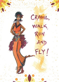 Crawl, Walk, Run and Fly  Magnet