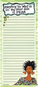 Everything You Want Is On The Other Side Of Fear Note Pad