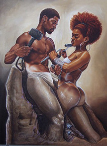 Made 4 Each Other  (18 x 12) Art Print - Kevin A. Williams - WAK