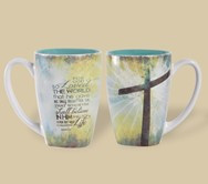 """16 oz coffee, tea or latte mugs • Image or text fully wrapped on both sides • Includes individual gift box • Dishwasher & microwave safe   """"For God so loved the world that He gave His only begotten son, that whoever shall believe in Him shall not perish but have everlasting life."""" ~ John 3:16"""