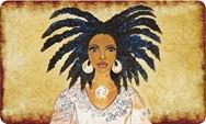 Nubian Queen African American Floor Mat--GBaby