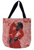 Definitely by Poncho Woven Tote Bag-- Larry Poncho Brown