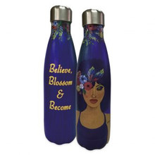 """Believe, Blossom and Become Stainless Steel Bottles--Sylvia """"GBaby"""" Cohen"""