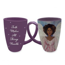 "Faith Makes All Things Possible Latte Mugs	--Sylvia ""GBaby"" Cohen"