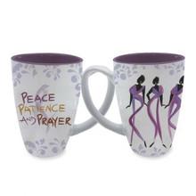Peace, Patience, and Prayer Cidne Wallace, Mugs, Latte Mugs