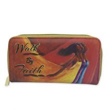 Walk By Faith Long Wallet-- Kerream Jones
