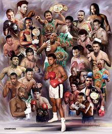 Boxing Greats: Champions #3 Art Print - Wishum Gregory