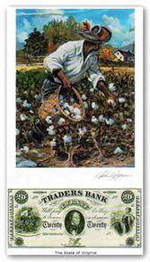 Color of Money - Slave Gathering Cotton: Virginia Art Print - John Jones