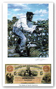 Color of Money - Slave Harvesting Cotton: North Carolina Art Print - John Jones