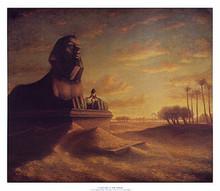 Cleopatra at the Sphinx art print by Tim Ashkar
