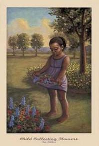 Child Collecting Flowers art print by Tim Ashkar