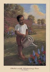 Child With Watering Can art print by Tim Ashkar