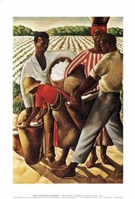 Cotton Pickers (mini) Art Print - Richardson