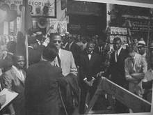 Malcolm X, Gabe Pressman & Louis Farrahkan Art Print