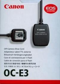 CANON OC-E3 OFF-CAM SHOE CORD