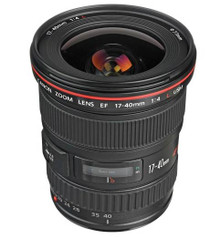 Canon EF 17-40mm f/4L USM Ultra Wide Angle Zoom Lens with Case and Lens Hood