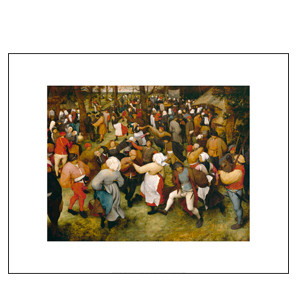 The Wedding Dance By Bruegel Archival Print
