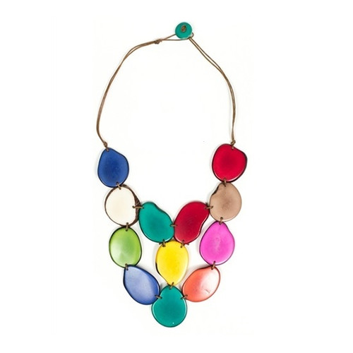 craft ecuador colors terra necklace tagua