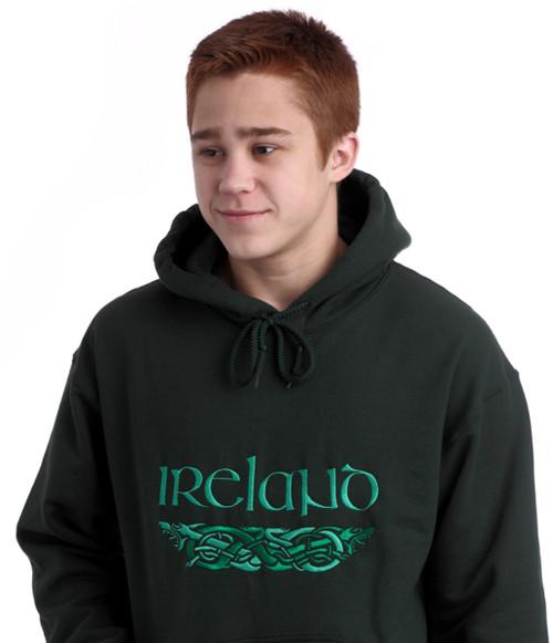 Irish Dragons Hooded Sweatshirt Forest | Irish Rose Gifts