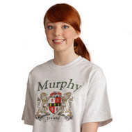Irish Coat of Arms Tee Shirt in Ash | Irish Rose Gifts