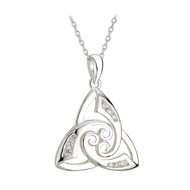 Trinity Knot & Spiral Necklace - Sterling Silver