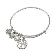 Tree of Life Sliver tone bracelet - Allergy safe
