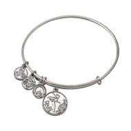 Celtic Fairy Sliver tone bracelet bangle - Allergy safe