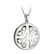 Irish Trinity Knot Necklace - Sterling Silver