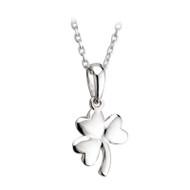 Irish Shamrock Necklace - Sterling Silver
