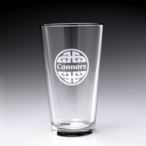 Personalized Celtic Knot Pint Glass, 16oz - Set of 4 (Sand Etched)