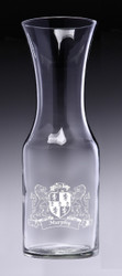 Wine Decanter with Coats of Arms - (Sand Etched)