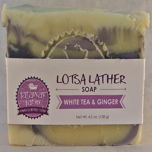 White Tea & Ginger Lotsa Lather Soap wrapped