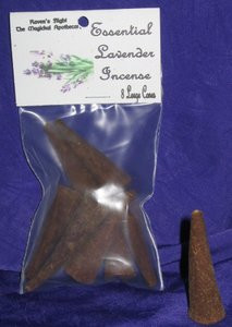 Essential Lavender Incense Cones 8 Large