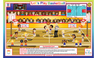Let's Play: Basketball Placemat
