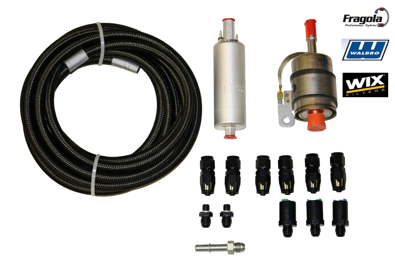 Ls Gen Iii Fuel System Plumbing Kit Non Return Style Single Russell Filters Image 1