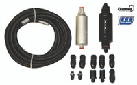LS/Gen III Fuel System Plumbing Kit, return style - dual fuel line at rail