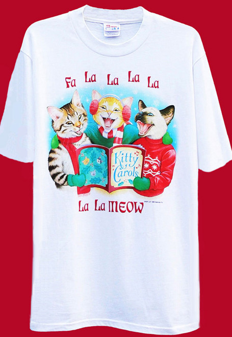KITTY CAROLERS CAT T-SHIRT