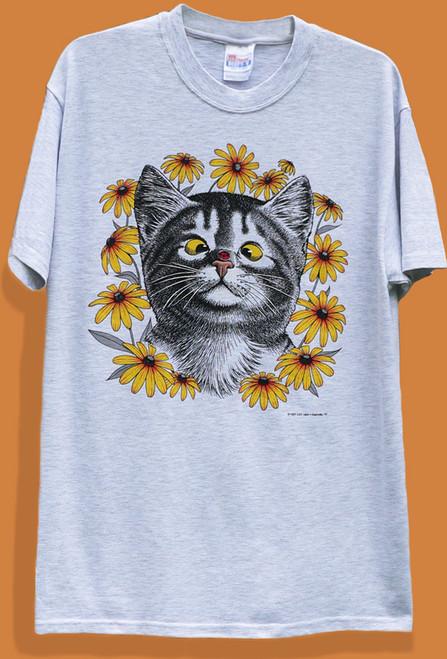 LADY BUG CAT T-SHIRT ASH