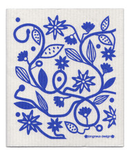 Eco-friendly doodle flower blue