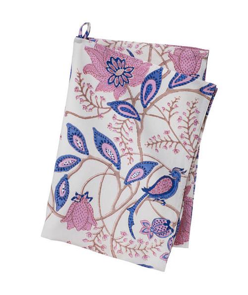 Colorful Cotton Kitchen Towel - Phulphul - Blue Rose