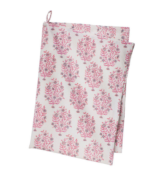 Colorful Cotton Kitchen Towel - Jasna - Rose