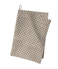Contemporary High Quality Kitchen Towel - Meena - Black-Ochre