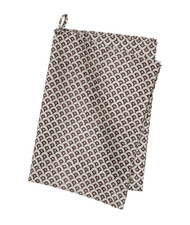 Contemporary High Quality Kitchen Towel - Meena - Black-Clay